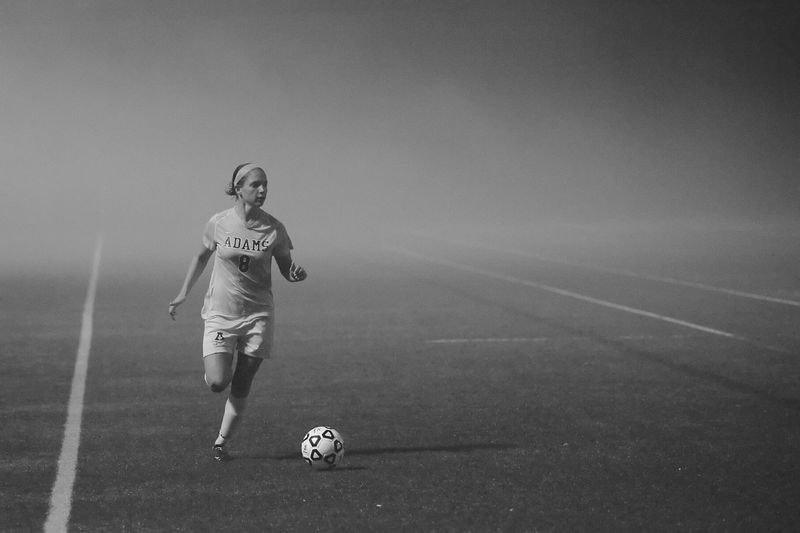 Foggy soccer photo
