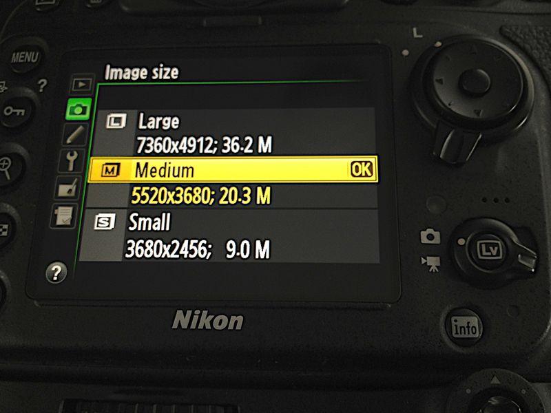 Nikon D800 Camera Setting